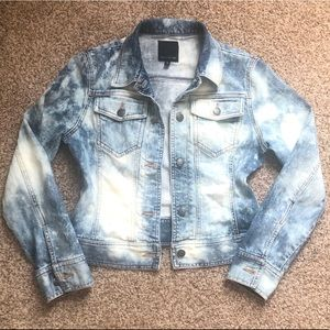 The limited XS bleached distressed jean jacket